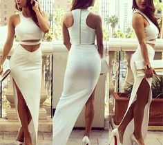 #Beautiful #White #TwoPiece #Dress absolute #Perfection ~