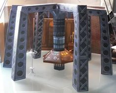 PAPERMAU: Doctor Who - The Movie - Eight Doctor Tardis Interior Paper Modelby Action Figure Theatre