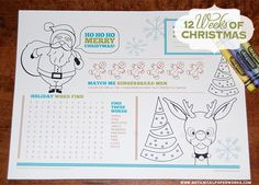 What a great way to keep the kids entertained while you eat and visit at your next holiday dinner and it's totally free - just download and print.