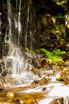Laguna Negra Waterfall, Vinuesa, Soria, Castilla y León, Spain