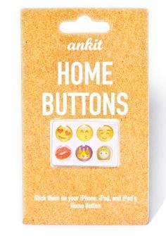 Cute Emoji Home Buttons Emoji Love, Cute Emoji, Emoji Stickers, Ipod, Buttons, Fun, Ipods, Hilarious, Plugs