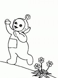 free printable teletubbies coloring pages for kids - Teletubbies Dipsy Coloring Pages