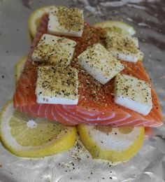 tin foil lemon butter salmon. maybe add asparagus and corn for a complete meal? and/or new potatoes.