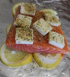 tin foil lemon butter salmon