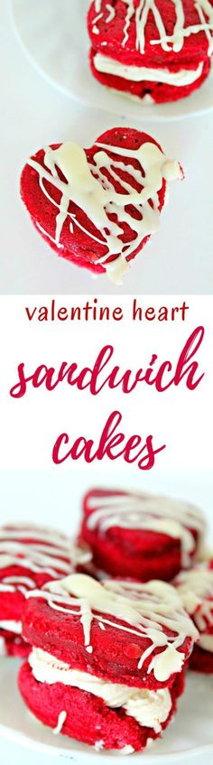 RED VELVET SANDWICH COOKIES - Make Valentine's Day even sweeter with these easy, adorable and delicious red velvet sandwich cookies! Two layers of rich red velvet cake filled with decadent coconut cream cheese frosting!  #redvelvet #cookies #cookiedecorating #cookiedough #valentinesday #valentine #dessert #dessertrecipes #desserts #yummy #delicious