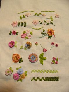 Encyclopedia Of Ribbon Embroidery Borders  Click On The
