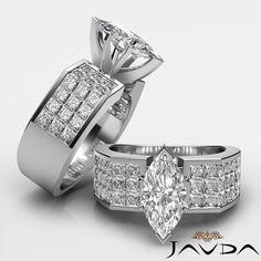 Marquise Invisible Diamond Fine Engagement Ring GIA I VS2 14k White Gold 2 54 Ct   eBay