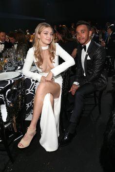 Gigi Hadid and Lewis Hamilton Sexy Outfits, Sexy Dresses, Gigi Hadidi, Fashion Models, Fashion Show, Bella Hadid Outfits, Gigi Hadid Style, Beautiful Celebrities, Kendall Jenner