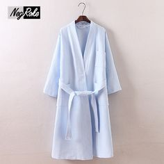 Plus size Simple waffle 100% cotton robes for women long-sleeved casual Couples  bathrobes e7182b09c