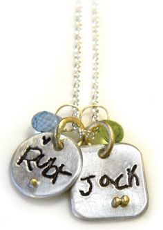 Preserve the kids handwriting in a pendant that will last forever.