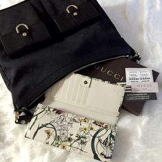Flora Floral Infinity Leather Continental Wallet Mini infinity flora printed leather with off-white leather detail Gucci trademark detail Snap closure 12 card slots and 3 bill compartments Zip coin pocket Closed 3.7 x 7.4 x 1.1 Open 7.4 x 7.4 Made in Italy Comes with box and cards  Authentic ❌Trades ❌Low balling ✔️Please use Offer button for offers, not comment section Gucci Bags Wallets