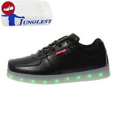 (Present:kleines Handtuch)High Top mit Velcro Schwarz 40 EU USB Sneaker Sport Turnschuhe Damen Farbe mode LED JUNGLEST Aufladen 7 Sportschuhe Leuchtend für a94tMOwVU