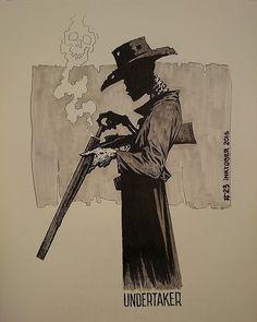 ink drawing of cowboy for inktober Doodle Drawing, Drawing Sketches, Art Drawings, Bd Art, Creation Art, Cowboy Art, Tatoo Art, Art Graphique, Western Art