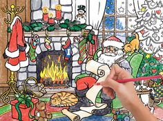 Naughty or Nice Color Your Own Puzzle | Christmas - Santa | Vermont Christmas Co. VT Holiday Gift Shop