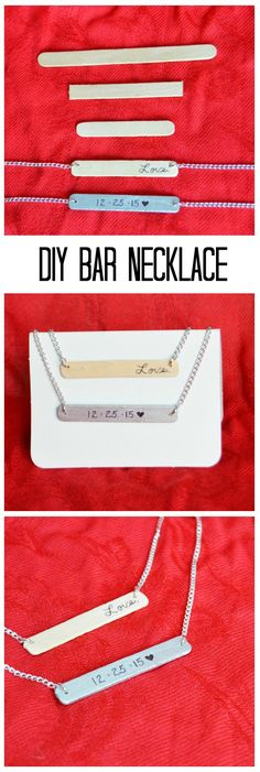 DIY Bar Necklace - A popsicle stick craft for adults