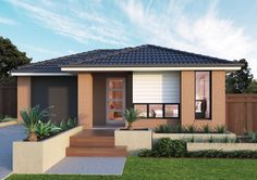 Builders of single and double storey homes, town houses and medium density housing in Victoria, South Australia, New South Wales and Queensland. Exterior House Colors, Interior And Exterior, Simonds Homes, Architectural House Plans, Storey Homes, House Elevation, House Front, Future House, Building A House