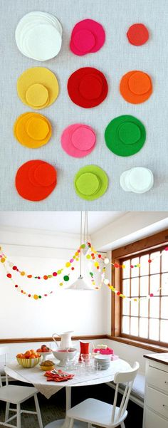"DIY ""sprinkle dust"" felt garland"