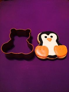 Penguin from a bear cookie cutter