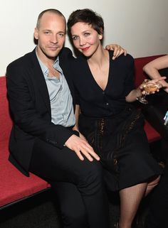 Pin for Later: Can't-Miss Celebrity Pics!  Peter Sarsgaard and Maggie Gyllenhaal stayed close at Miu Miu Women's Tales 9th Edition De Djess screening in NYC on Wednesday.