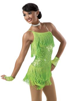 Booty Swing Weissman™ | One-Shoulder Sequin Fringe Dress