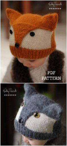 Love this adorable knit fox hat Such a sweet hat for little ones Check out the other adorable little costume hats found by craftevangelist crafts knit hat pattern yarn DIY knitting foxes wolves Baby Hat Knitting Pattern, Baby Hat Patterns, Fox Pattern, Baby Hats Knitting, Kids Patterns, Beanie Pattern, Knitting For Kids, Knitting Patterns Free, Free Knitting