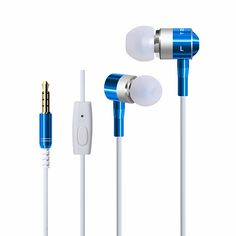 Metal In-Ear Stereo Sport Earphones Noise Isolating Protable With Earplugs Microphone For IPhone Android Smart Phones MP3 MP4 #Affiliate