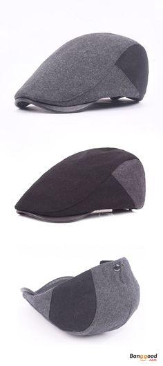 US$10.16+Free shipping. Men's Cap, Golf Gentleman Cap, Beret Caps,  Adjustable. Color: Black, Grey. Fashion, Gift, Surprise. Shop now~