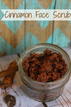DIY Holiday Gift Idea- Cinnamon Face Scrub! One of my favorite gifts in a jar beauty ideas.