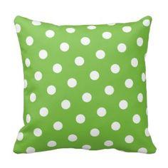 Green Polka Dot Pillows - Green Throw Pillows