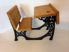 Vintage Samantha Doll Desk Cast Iron and Wood. EBSVintageHome
