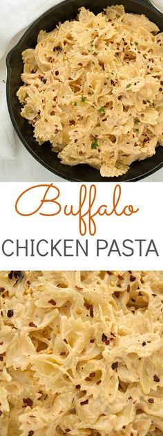 incredible buffalo chicken pasta recipe - perfect for the games! Also is perfect anytime of the year!✓An incredible buffalo chicken pasta recipe - perfect for the games! Also is perfect anytime of the year! Think Food, I Love Food, Food For Thought, Good Food, Yummy Food, Tasty, Chicken Pasta Recipes, Easy Pasta Recipes, Easy Meals