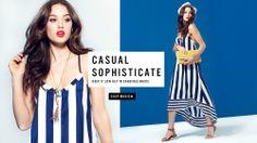 A'GACI: casual dresses, add blue to a white studio shot