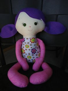 Scrap baby girl doll free shipping by justplainbeckyw on Etsy, $17.00