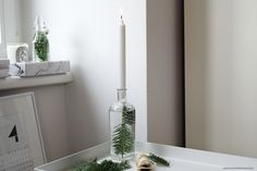 Festive Candle Holder DIY | More on viennawedekind.com