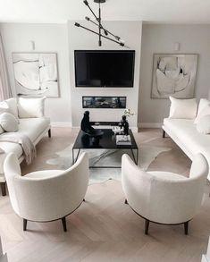 New Living Room, Living Room Modern, Interior Design Living Room, Home And Living, Living Room Designs, Living Room Decor, Living Room White, Living Room Inspiration, Home Decor Inspiration