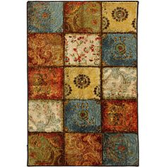 @Overstock.com - City Heritage Multi Accent Rug (2'6 x 3'10) - The mosaic tile appearance of this rug is accented in rust, blue, brown and green tones.  The eclectic blend of paisley and medallions make this rug a conversation piece.  http://www.overstock.com/Home-Garden/City-Heritage-Multi-Accent-Rug-26-x-310/6972403/product.html?CID=214117 $38.99