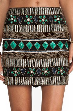 Beaded sequin skirt