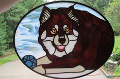 Check out our panels & wall hangings selection for the very best in unique or custom, handmade pieces from our shops. Mosaic Glass, Glass Art, Custom Stained Glass, Dog Portraits, How To Take Photos, Your Pet, Pets, Pictures, Wall Hangings