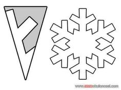 Ideas for diy paper snowflakes templates snow flake christmas snowflakes Ideas for diy paper snowflakes templates snow flake Diy Christmas Fireplace, Diy Christmas Snowflakes, Snowflake Craft, Snowflake Decorations, Christmas Crafts, Simple Snowflake, Snowflake Origami, Kirigami Origami, Christmas Paper
