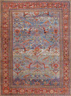 Antique Persian Sultanabad Carpet 47270 Main Image - By Nazmiyal