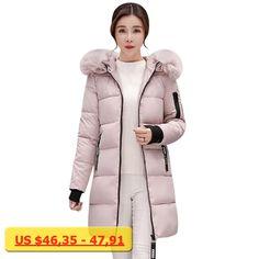 CHANGYUGE Winter Warm Women Down Cotton Soild Color Coat