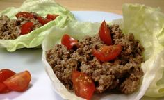 Cheeseburger Lettuce Wraps - a fast and easy low carb meal. Only 5 Weight Watchers points per serving! www.emilybites.com