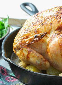 Honey Glazed Apple Roast Chicken