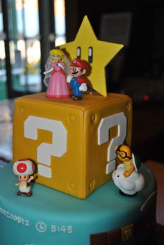 Super Mario wedding cake toppers