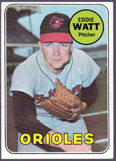 BALTIMORE ORIOLES 1969 TOPPS EDDIE WATT HIGH NUMBER 652 EXEX+ FREE SHIPPING