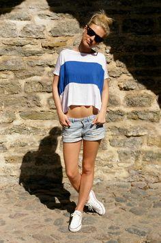 8ac1c2da444 cute crop top and jean shorts Summer Wardrobe