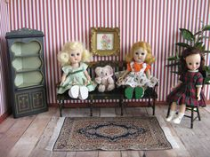 Vintage Hand Painted Pennsylvania Dutch Furniture  by TheToyBox