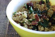 Gluten-Free, Dairy-Free Quinoa Salad with Roasted Sweet Potatoes, Crispy Bacon and Toasted Hazelnuts | Silvana's Kitchen