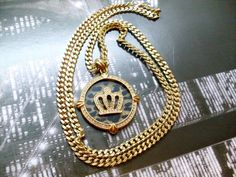 Collana Oro The King Catena Hip Hop New York Gold necklace The King Gold
