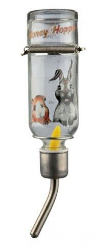 Trixie Honey and Hopper Glass Water Bottle, 125 ml Glass Water Bottle, Rodents, Barware, Honey, Pets, Teaser, Rabbit, Collections, Animal
